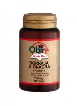 Borraja + Onagra + Vitamina E 110 perlas Obire