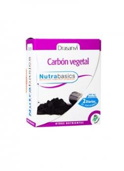 Carbón Vegetal Nutrabasics 60 cápsulas 466 mg Drasanvi