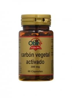 Carbon Vegetal Activado 60 capsulas 250 mg Obire