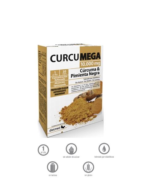 CurcuMega 10.000 mg 30 cápsulas DietMed