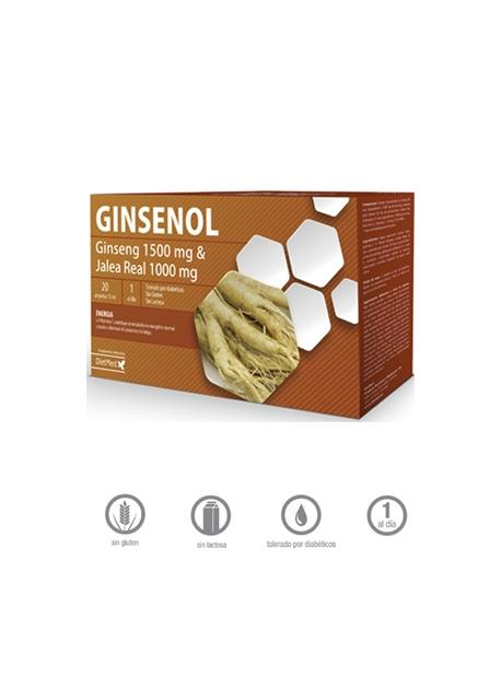 Ginsenol 20 ampollas de 15 ml DietMed