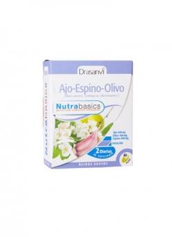 Ajo Espino Olivo Nutrabasics 60 perlas 700 mg Drasanvi