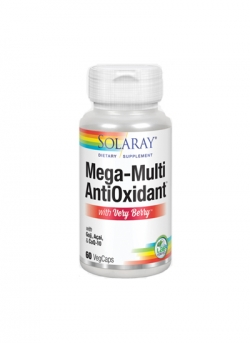 Mega Multi Mineral AntiOxidant con Very Berry 60 Vegcaps Solaray