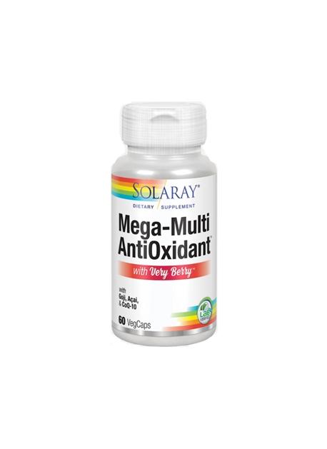 Mega-Multi AntiOxidant con Very Berry 60 Vegcaps Solaray