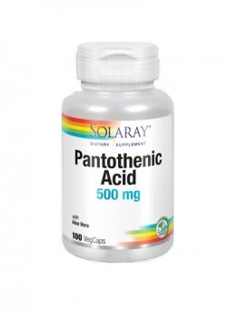 Ácido Pantoténico 100 cápsulas vegetarianas 500 mg Solaray