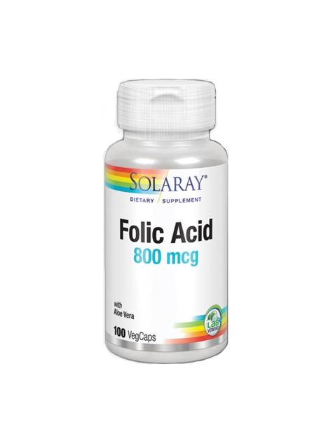 Ácido Fólico 100 VegCaps 800 mcg Solaray