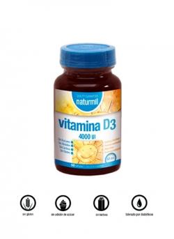 Vitamina D3 4000 U.I. Naturmil 60 cápsulas Dietmed