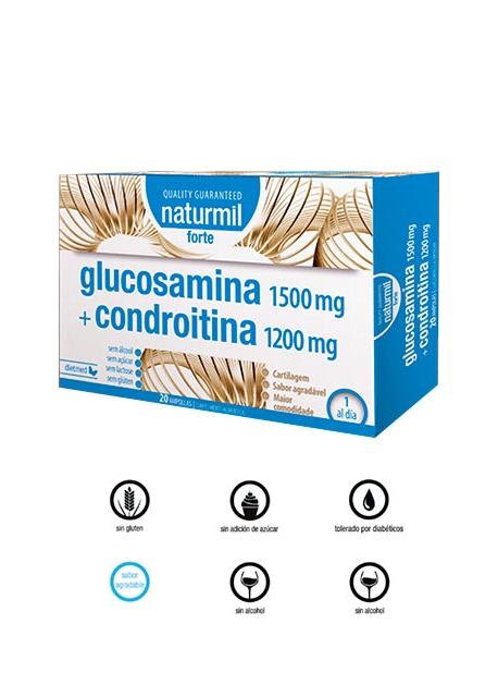 Glucosamina + Condroitina Forte Naturmil DietMed