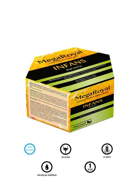 Mega Royal Infans 20 ampollas DietMed