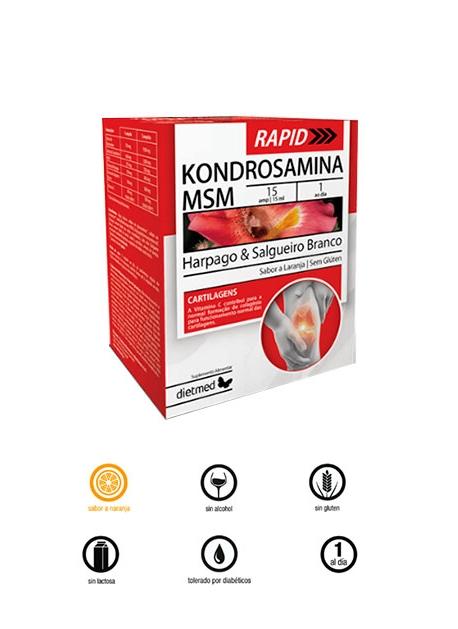 Kondrosamina MSM Rapid 15 ampollas Dietmed