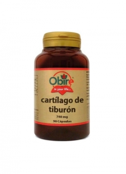Cartilago de tiburon 90 capsulas 740 mg Obire