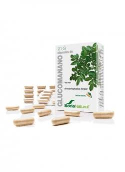 21-S Glucomanano 60 cápsulas Soria Natural