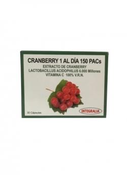 Cranberry 1 al Día 150 PAC's 30 cápsulas Integralia