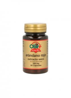 Arándano Rojo Extracto Seco 60 cápsulas 200 mg Obire