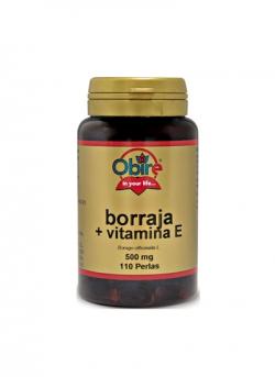 Borraja + Vitamina E 110 perlas 500 mg Obire