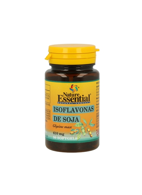 Isoflavonas de Soja 50 perlas 620 mg Nature Essential
