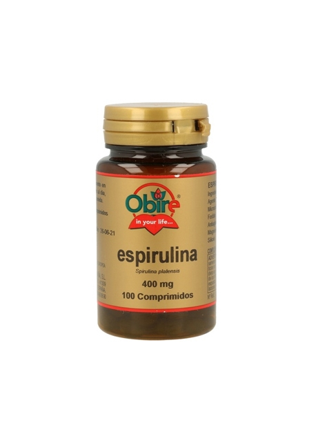 Espirulina 100 comprimidos 400 mg Obire