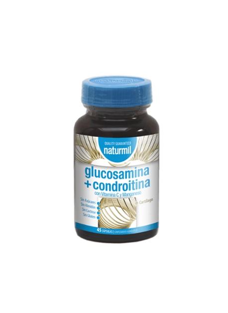 Glucosamina + Condroitina Naturmil 45 capsulas DietMed
