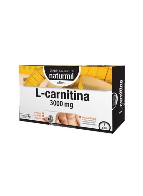 L-Carnitina Strong Naturmil 3000 mg 20 ampollas DietMed
