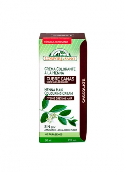 Crema Colorante Henna Chocolate 60 ml Corpore Sano