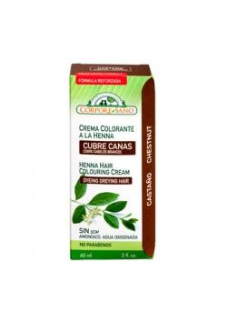 Crema Colorante Henna Castaño 60 ml Corpore Sano