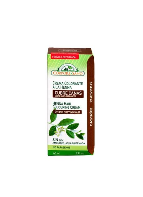 Cubre Canas Henna Castaño 60 ml Corpore Sano