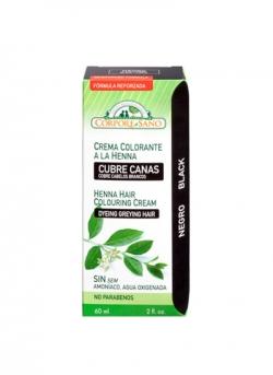 Crema Colorante Henna Negro 60 ml Corpore Sano