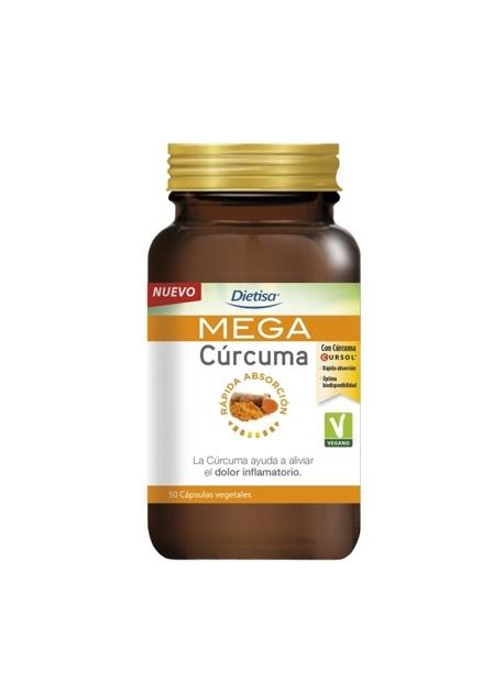 Mega Cúrcuma 50 cápsulas vegetales Dietisa