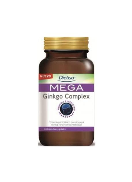 Mega Ginkgo Complex 60 cápsulas vegetales Dietisa