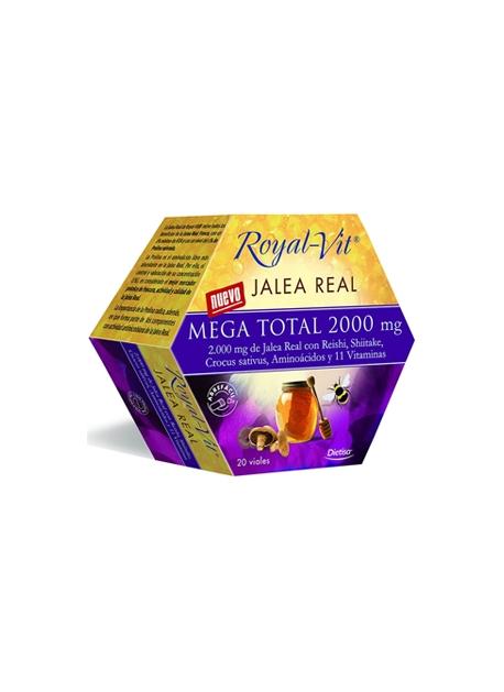 Royal-Vit Jalea Mega Total 20 viales de 2000 mg Dietisa