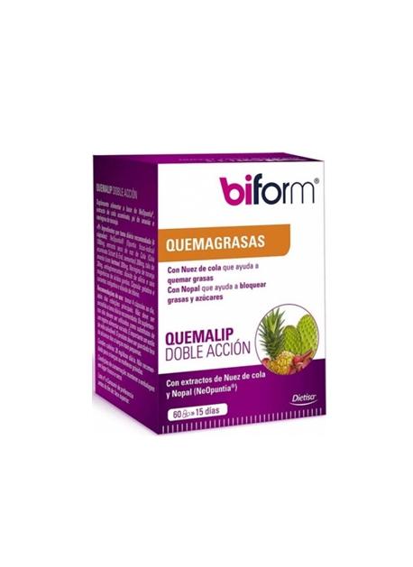 Biform Quemalip Doble Acción 60 cápsulas Dietisa