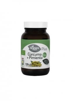 Cúrcuma + Pimienta Plus Bio 100 + 20 cápsulas El Granero Integral
