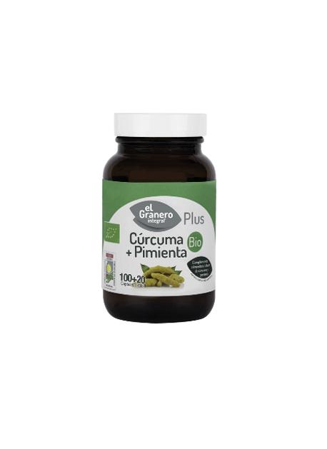 Cúrcuma + Pimienta Plus Bio El Granero Integral
