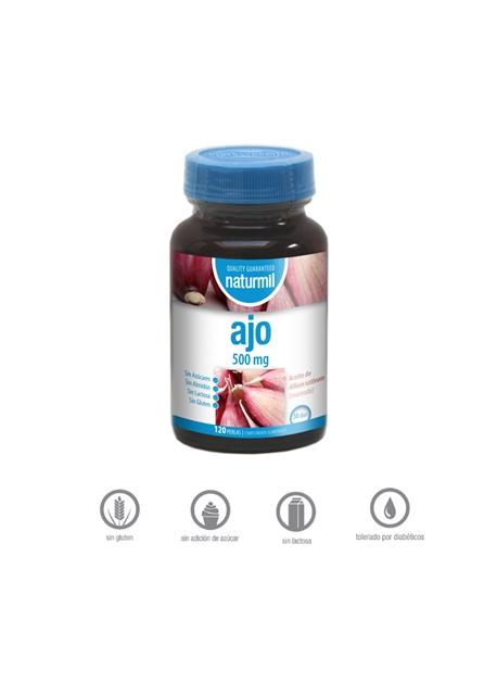 Ajo Naturmil 120 perlas 500 mg Dietmed