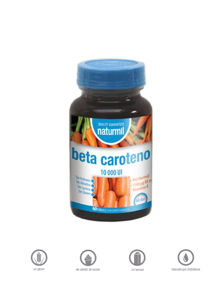 Beta Caroteno Naturmil 10000 UI 60 perlas Dietmed