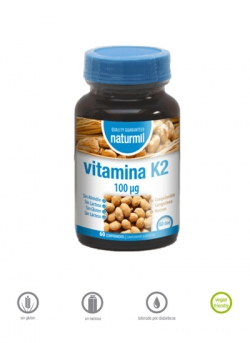 Vitamina K2 Naturmil 60 comprimidos 100 µg Dietmed