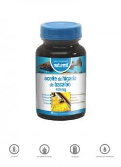 Aceite de Hígado de Bacalao Naturmil 45 perlas 400 mg Dietmed