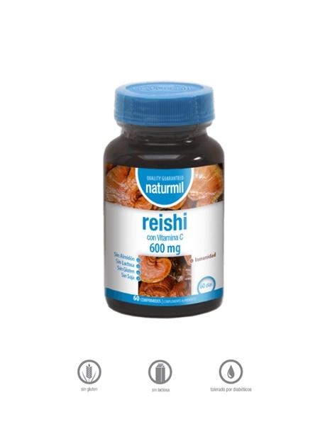 Reishi Naturmil 60 comprimidos 600 mg Dietmed