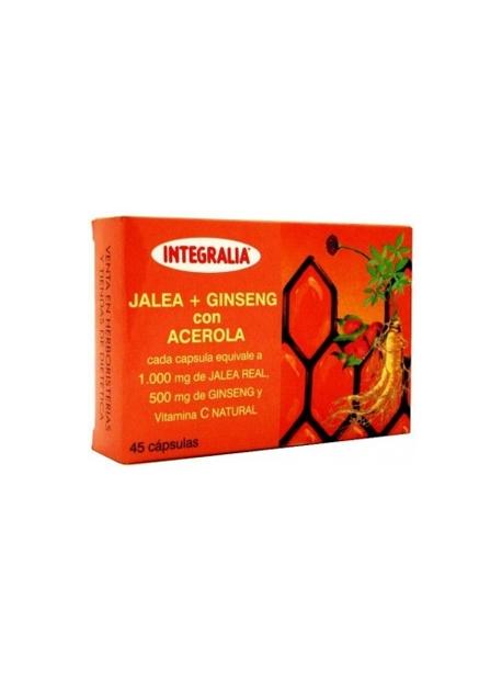 Jalea Real + Ginseng con Acerola 45 cápsulas Integralia