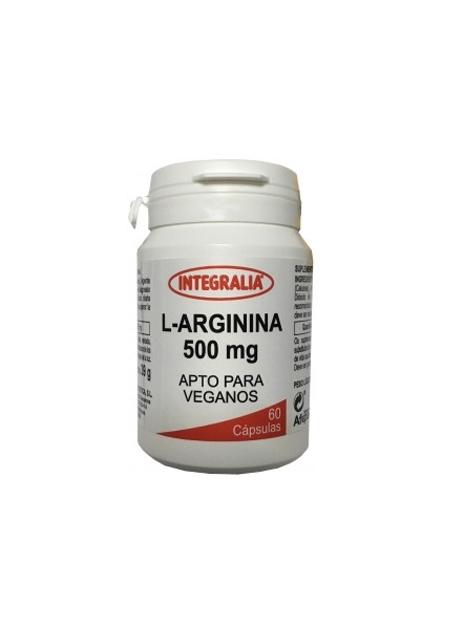 L Arginina 60 cápsulas 500 mg Integralia