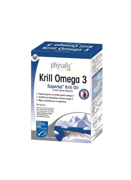 Krill Omega 3 30 cápsulas Physalis
