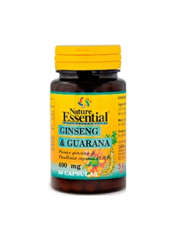 Ginseng y Guaraná 50 cápsulas 400 mg Nature Essential