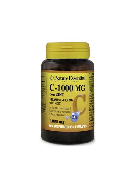 Vitamina C + Zinc 60 comprimidos 10 mg Nature Essential