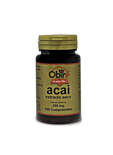 Acai Extracto Seco 100 comprimidos 250 mg Obire