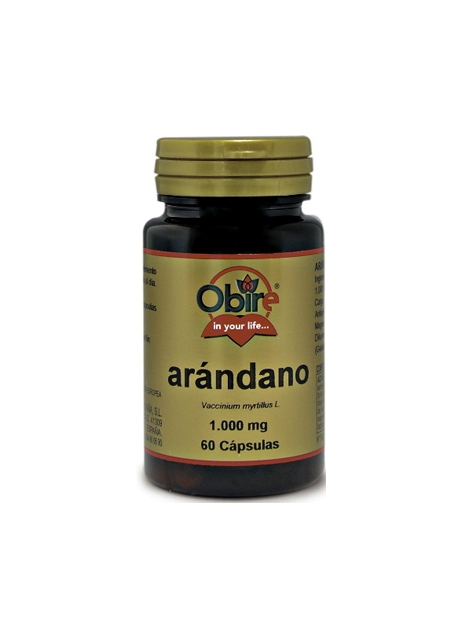 Arandano 60 capsulas 1000 mg Obire