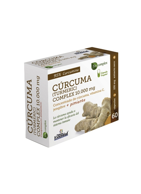 Curcuma Complex 60 capsulas vegetales 10000 mg Nature Essential