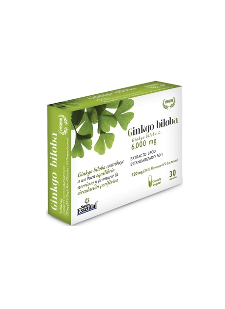 Ginkgo Biloba 30 capsulas vegetales 6000 mg Nature Essential