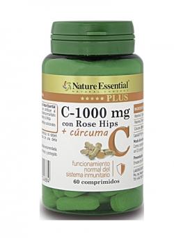 Vitamina C-1000 mg + Curcuma 60 comprimidos Nature Essential Plus